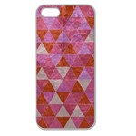 Tricolor Apple Seamless iPhone 5 Case (Clear) Front