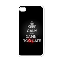 Too Late ! Apple Iphone 4 Case (white)