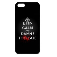 too late ! Apple iPhone 5 Seamless Case (Black)