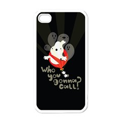 Who you gonna call Apple iPhone 4 Case (White)