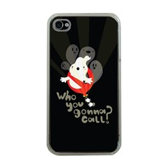 Who you gonna call Apple iPhone 4 Case (Clear)