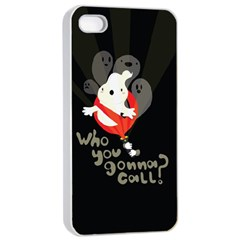 Who You Gonna Call Apple Iphone 4/4s Seamless Case (white)