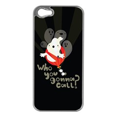 Who You Gonna Call Apple Iphone 5 Case (silver)