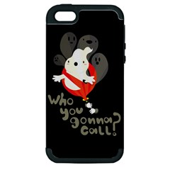 Who you gonna call Apple iPhone 5 Hardshell Case (PC+Silicone)