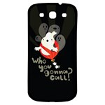 Who you gonna call Samsung Galaxy S3 S III Classic Hardshell Back Case Front