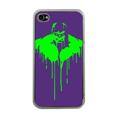 Incredible green Apple iPhone 4 Case (Clear)
