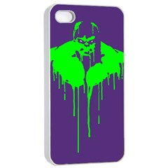 Incredible Green Apple Iphone 4/4s Seamless Case (white)