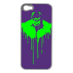 Incredible green Apple iPhone 5 Case (Silver)