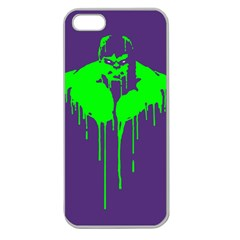 Incredible green Apple Seamless iPhone 5 Case (Clear)