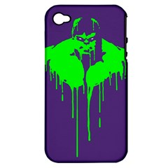 Incredible Green Apple Iphone 4/4s Hardshell Case (pc+silicone)