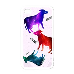 CowCow...cow. Apple iPhone 4 Case (White)