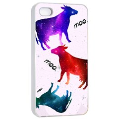 CowCow...cow. Apple iPhone 4/4s Seamless Case (White)