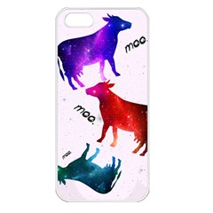 CowCow...cow. Apple iPhone 5 Seamless Case (White)