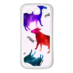 CowCow...cow. Samsung Galaxy S3 Back Case (White)