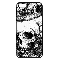 Skull King Apple iPhone 5 Seamless Case (Black)