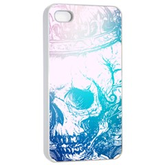 Skull King Colors Apple iPhone 4/4s Seamless Case (White)