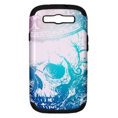 Skull King Colors Samsung Galaxy S Iii Hardshell Case (pc+silicone)