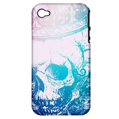 Skull King Colors Apple iPhone 4/4S Hardshell Case (PC+Silicone)