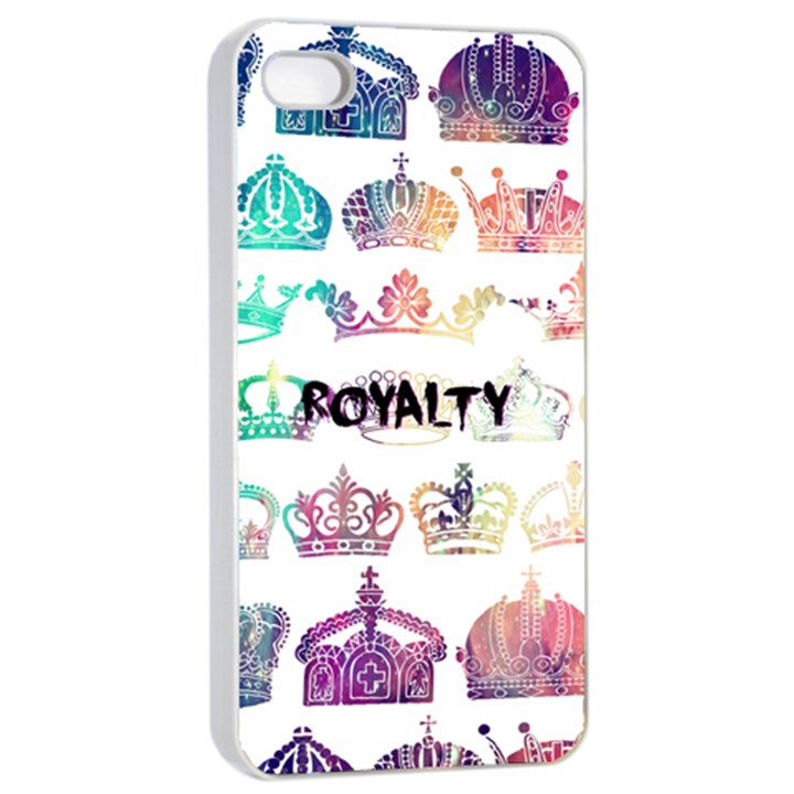 royalty Apple iPhone 4/4s Seamless Case (White)