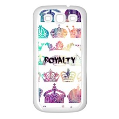 Royalty Samsung Galaxy S3 Back Case (white)