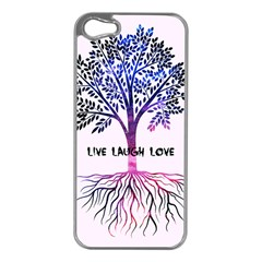 Tree of live laugh love. Apple iPhone 5 Case (Silver)