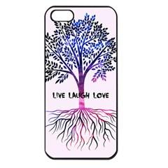Tree of live laugh love. Apple iPhone 5 Seamless Case (Black)