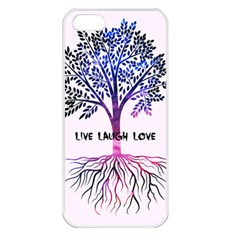 Tree Of Live Laugh Love  Apple Iphone 5 Seamless Case (white)