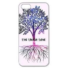 Tree of live laugh love. Apple Seamless iPhone 5 Case (Clear)
