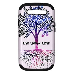 Tree of live laugh love. Samsung Galaxy S III Hardshell Case (PC+Silicone)
