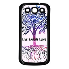 Tree Of Live Laugh Love  Samsung Galaxy S3 Back Case (black)