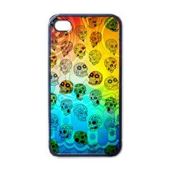 Sugary Skulls Apple iPhone 4 Case (Black)