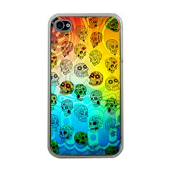 Sugary Skulls Apple iPhone 4 Case (Clear)