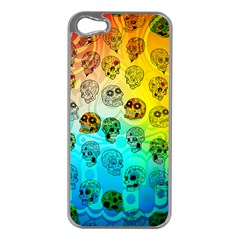 Sugary Skulls Apple iPhone 5 Case (Silver)