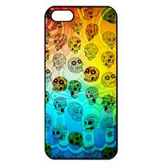 Sugary Skulls Apple iPhone 5 Seamless Case (Black)