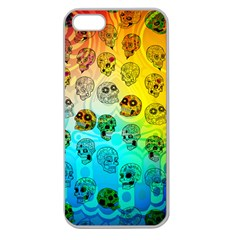 Sugary Skulls Apple Seamless iPhone 5 Case (Clear)
