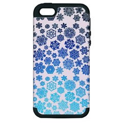 Let It Snow Apple iPhone 5 Hardshell Case (PC+Silicone)