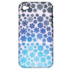 Let It Snow Apple iPhone 4/4S Hardshell Case (PC+Silicone)