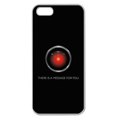 THERE IS A MESSAGE FOR YOU. Apple Seamless iPhone 5 Case (Clear)