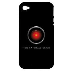 THERE IS A MESSAGE FOR YOU. Apple iPhone 4/4S Hardshell Case (PC+Silicone)