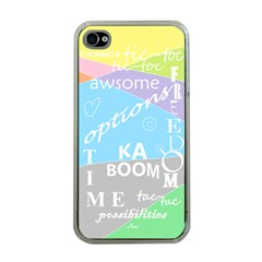 oh write Apple iPhone 4 Case (Clear)