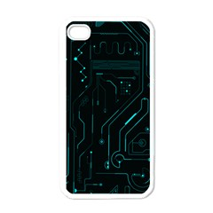 Circuit Board Apple Iphone 4 Case (white)