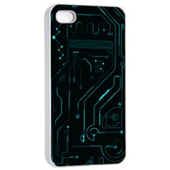 Circuit Board Apple iPhone 4/4s Seamless Case (White)