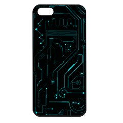 Circuit Board Apple iPhone 5 Seamless Case (Black)