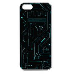 Circuit Board Apple Seamless iPhone 5 Case (Clear)