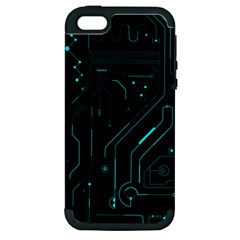 Circuit Board Apple Iphone 5 Hardshell Case (pc+silicone)