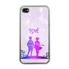 Love Apple Iphone 4 Case (clear)