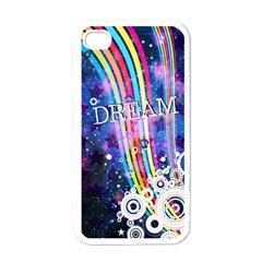 Dream in Colors Apple iPhone 4 Case (White)
