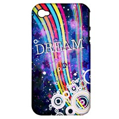 Dream In Colors Apple Iphone 4/4s Hardshell Case (pc+silicone)