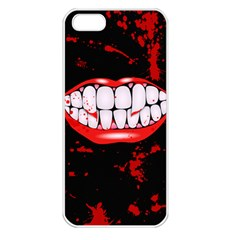 The Phone With Bite Apple iPhone 5 Seamless Case (White)