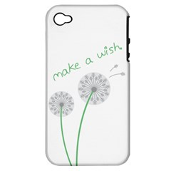 Make a Wish Apple iPhone 4/4S Hardshell Case (PC+Silicone)